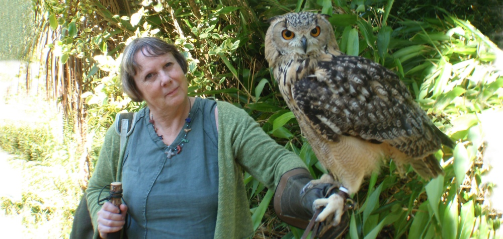 Jules with owl